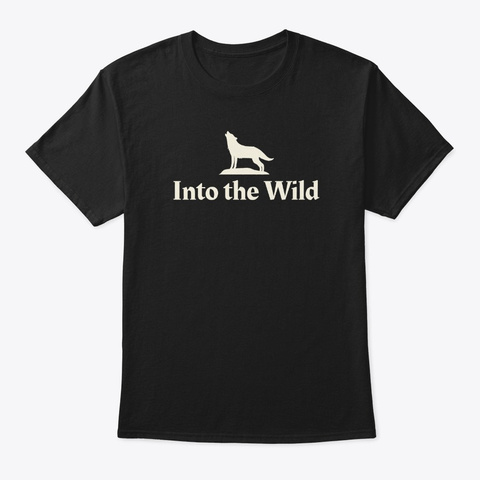 Into The Wild Black T-Shirt Front