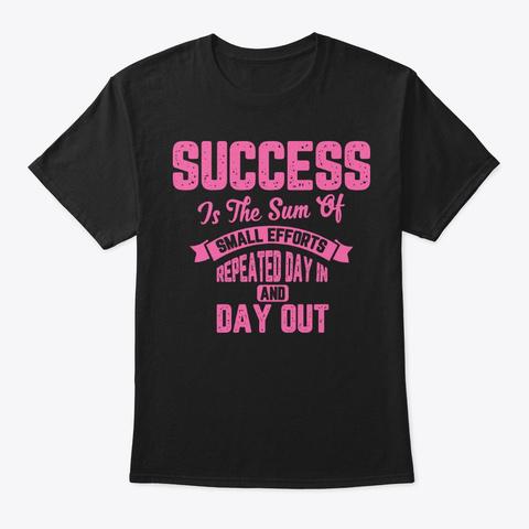 Success  Black T-Shirt Front