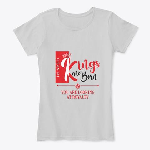 April Birthday King Light Heather Grey Camiseta Front