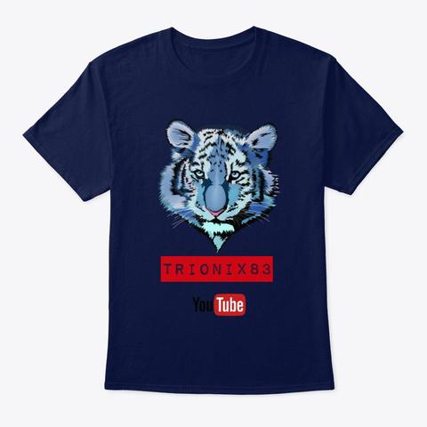 Tiger Blue   Tigre Azul   Tigres  Navy T-Shirt Front