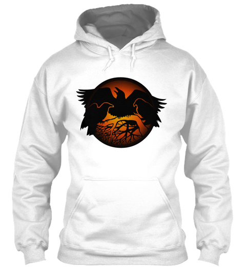 Raven Art Gifts Crow Raven Shirt Native  White T-Shirt Front