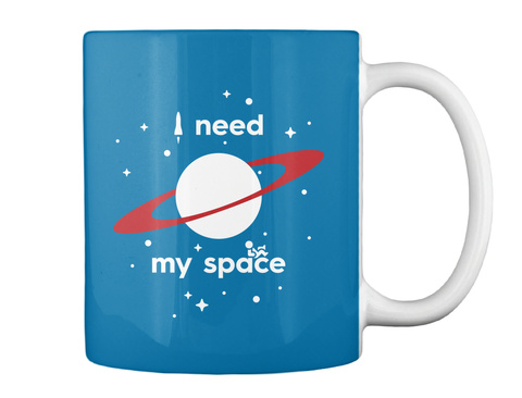 I Need My Space Royal Blue Mug Back