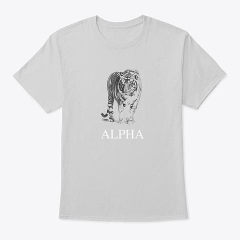 Alpha Tiger Design Light Steel T-Shirt Front