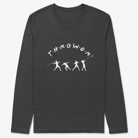 Friends X Thrower   Track And Field Black T-Shirt Front