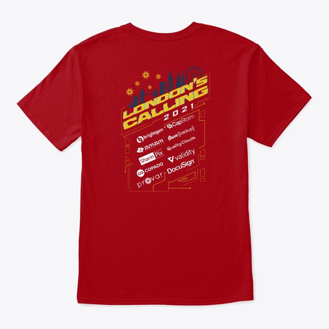 London's Calling '21 Deep Red T-Shirt Back