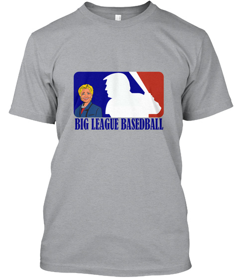 Big League Basedball Heather Grey T-Shirt Front