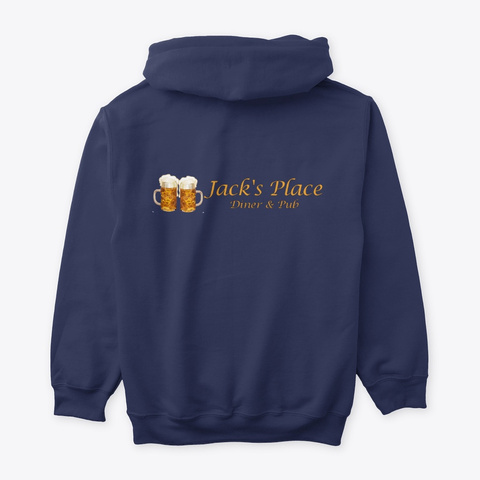Jack's Place Hoodie Navy T-Shirt Back