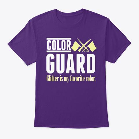 [Color Guard] Glitter My Favorite Color Purple T-Shirt Front