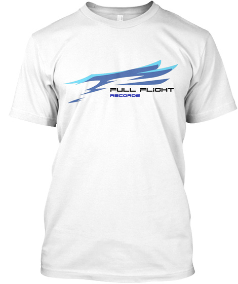Full Flight Records Banner Tee   White White T-Shirt Front