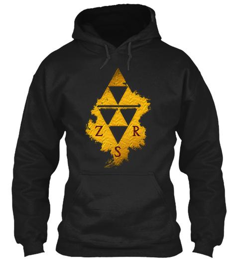 Z S R Black Sweatshirt Front