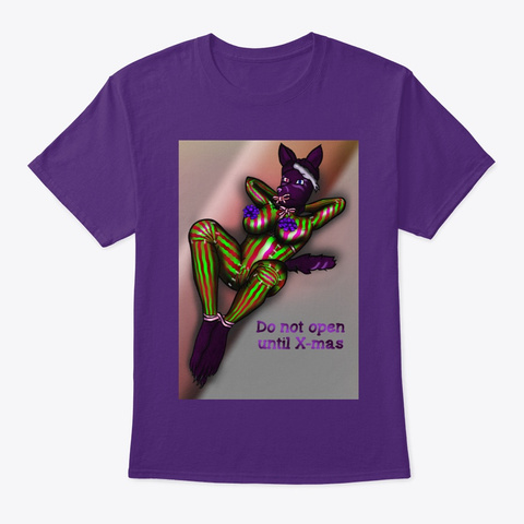 Merry X Mas From Teksune Studio (No Logo) Purple T-Shirt Front