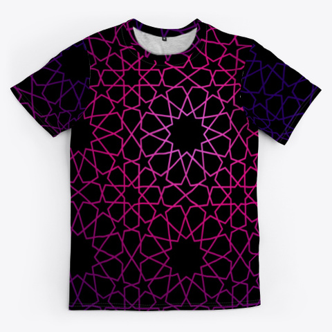 8 12 Tessellation Series V1 Black T-Shirt Front
