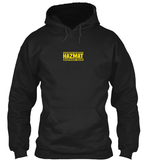 Hazmat Hazardous Material Response Team  Black T-Shirt Front