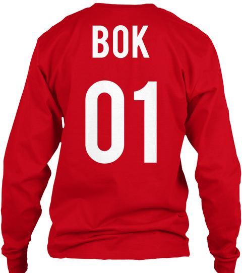 Bok 01 Red T-Shirt Back