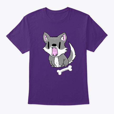 Wolfy Purple T-Shirt Front