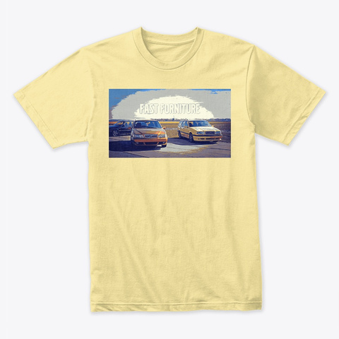 Fast Furniture Banana Cream T-Shirt Front