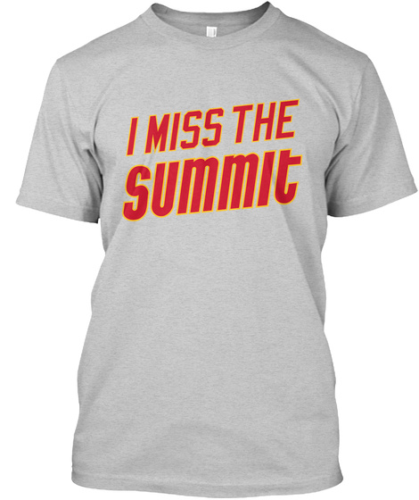 Naming Wrongs: Summit (Grey) Light Steel T-Shirt Front