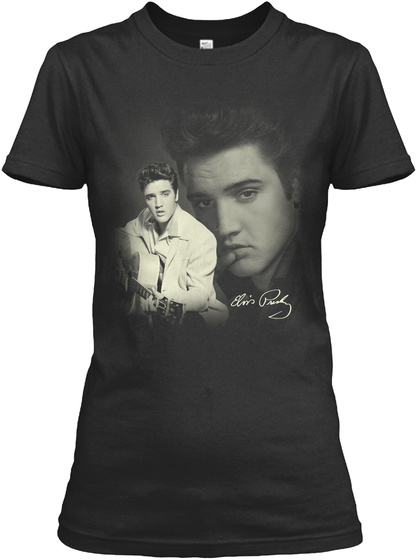 The King Of Rock 'n' Roll Black T-Shirt Front