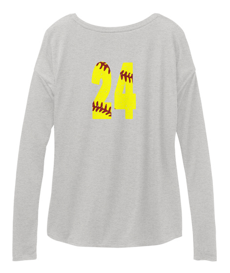 24 Athletic Heather Long Sleeve T-Shirt Back
