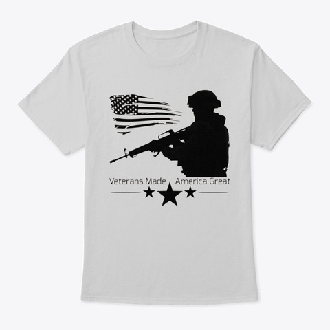 Vmag Flag And Soldier Light Steel T-Shirt Front