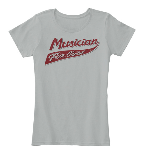 Musician For Christ Grey T-Shirt Front