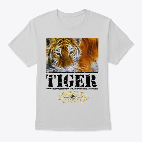 Tiger Sauvage Light Steel T-Shirt Front