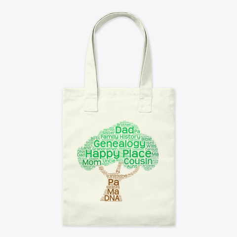 Happy Place Tote Bag Natural T-Shirt Front