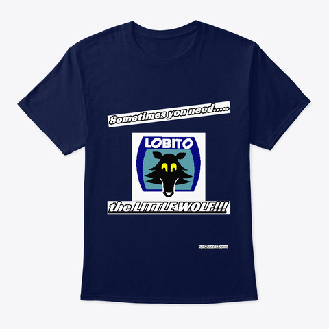 """Bultaco """"Little Wolf"""" Collection Navy T-Shirt Front"""