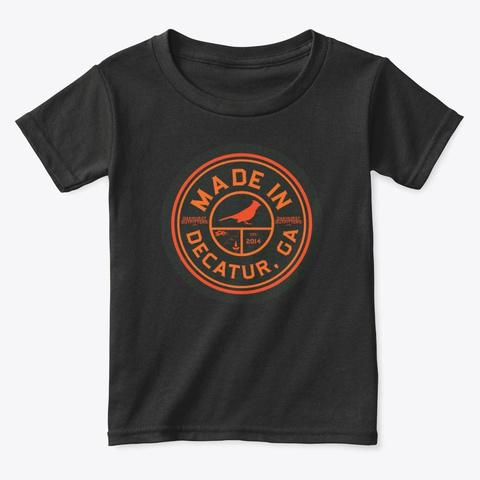 Made In Decatur Georgia   Cardinal Black T-Shirt Front