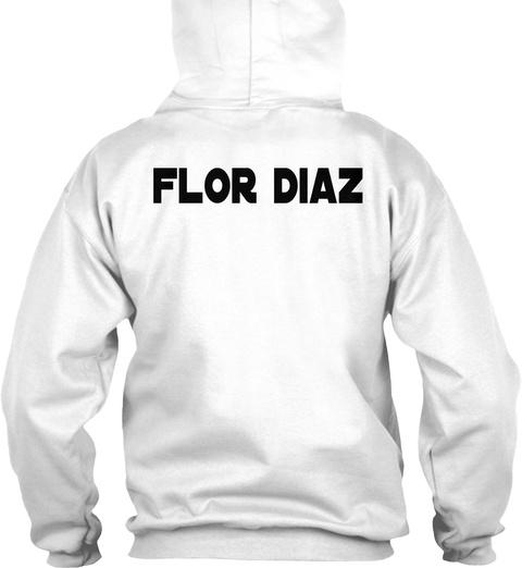 Flor Diaz White T-Shirt Back