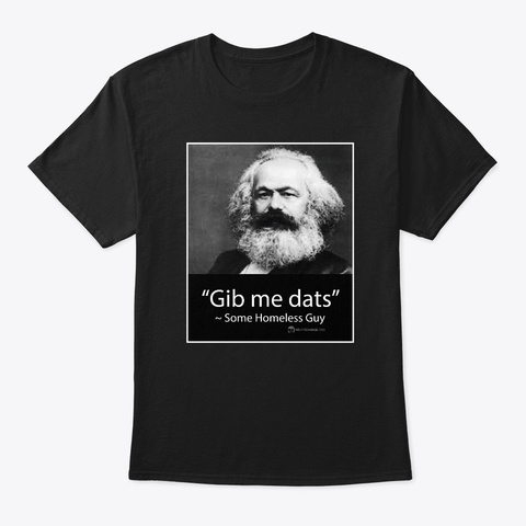 Karl Marx Lives! Black T-Shirt Front