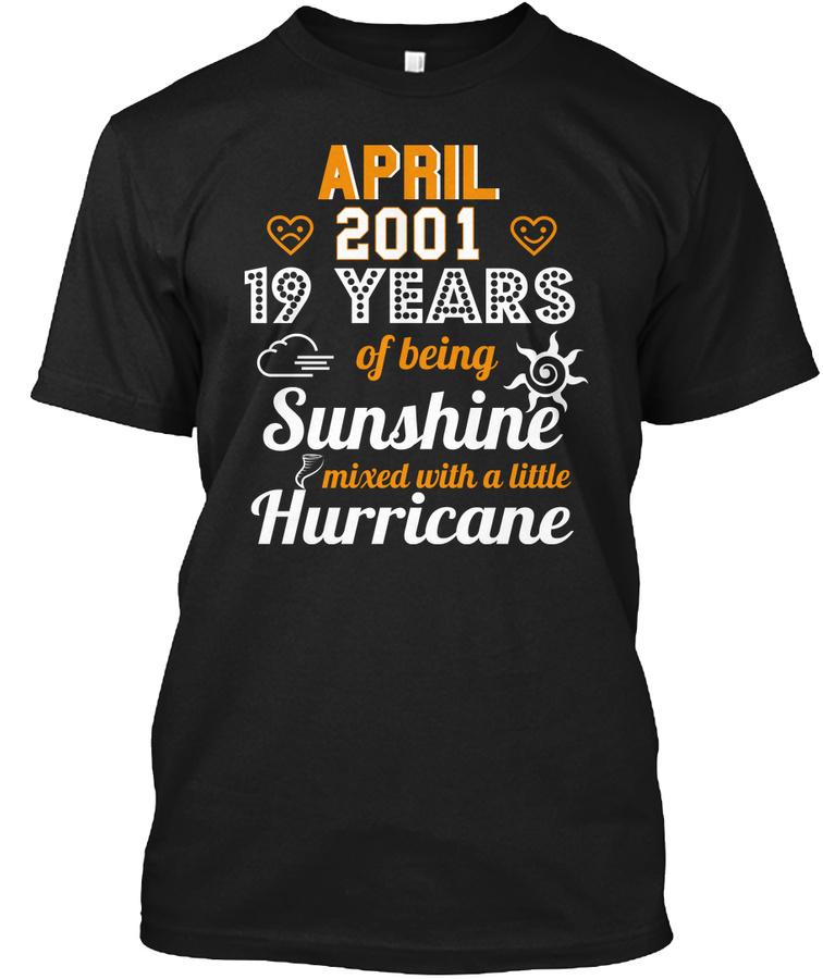 19th Wedding Anniversary April 2001 Unisex Tshirt