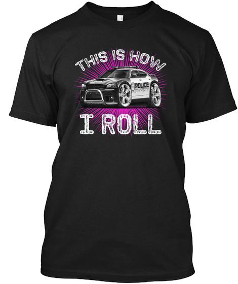 Police   Magenta Black T-Shirt Front