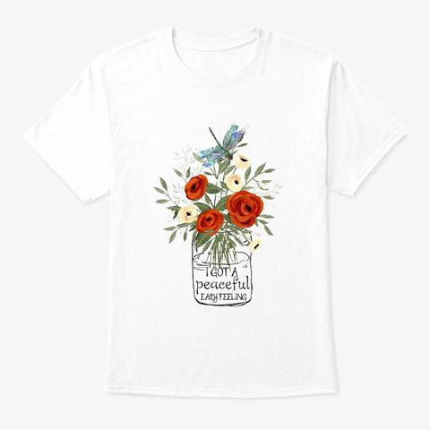 Flower Children Peaceful Costume White T-Shirt Front