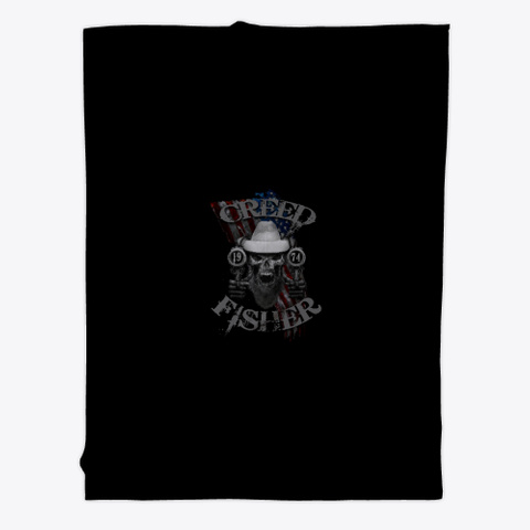 American Outlaw   Skull Usa Flag Black T-Shirt Front
