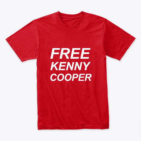 #Free Kenny Cooper Red T-Shirt Front