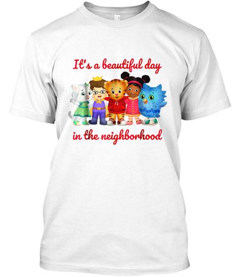 Vebyhogh   Daniel Tiger's Neighborhood T White T-Shirt Front