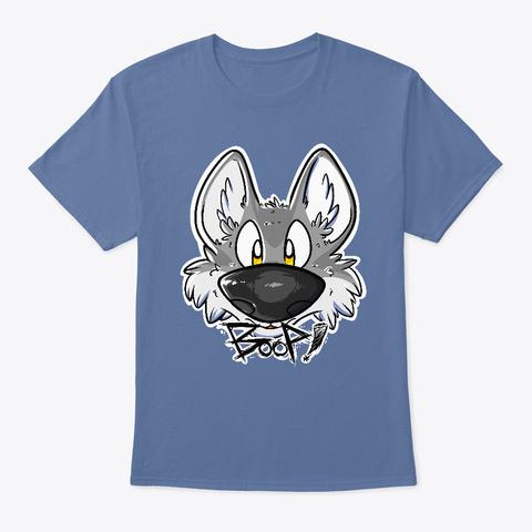 Gray Wolf's Boop! Denim Blue T-Shirt Front