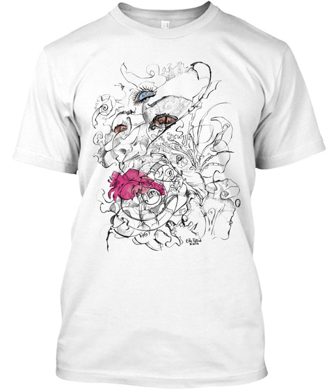 Third Eye Swirls White T-Shirt Front