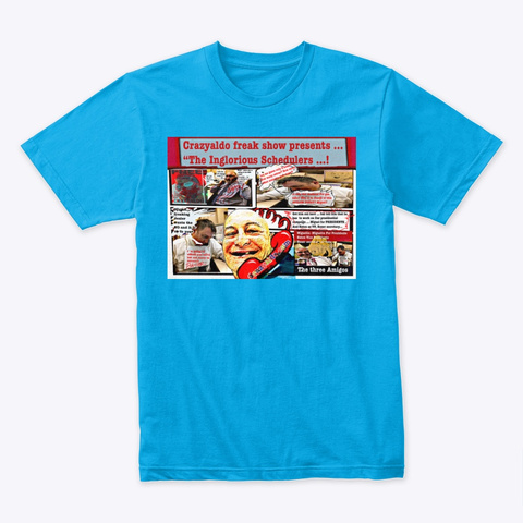Inglorious  Schedulers  Turquoise T-Shirt Front