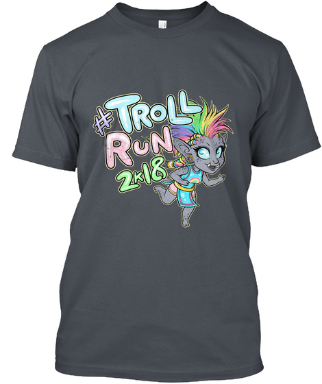 Troll Run 2k18 Heavy Metal T-Shirt Front