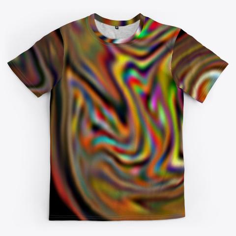 Color Spectrum Art Fonts Standard T-Shirt Front
