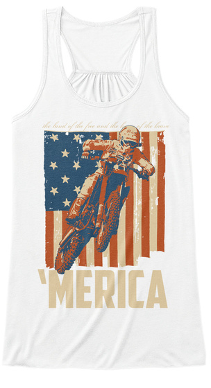 'merica  White T-Shirt Front