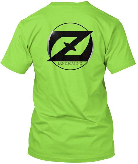 Landscaping Lime Camiseta Back