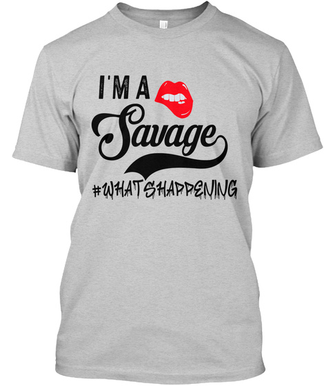 Savage Light Steel T-Shirt Front
