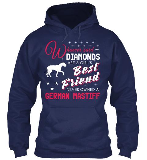 German Mastiff Gift Shirt Navy T-Shirt Front
