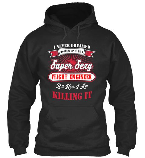 Flight Engineer Jet Black T-Shirt Front