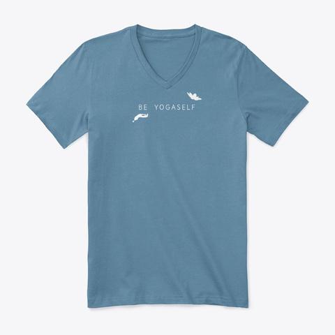Be Yogaself   Unisex/Mens Steel Blue T-Shirt Front