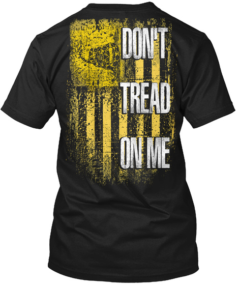 Don't. Black T-Shirt Back