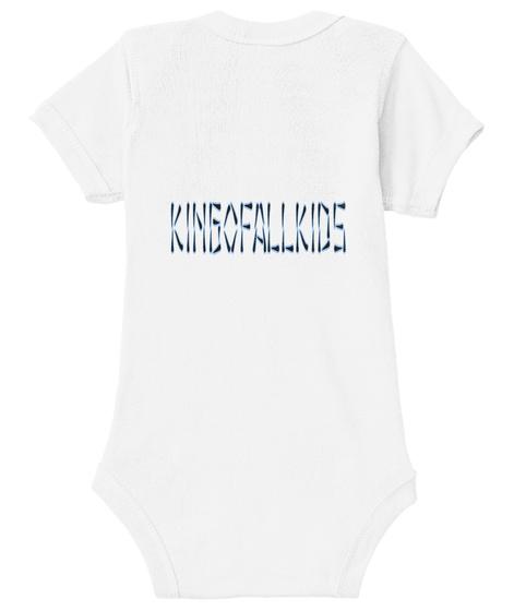 Kingofallkids White T-Shirt Back